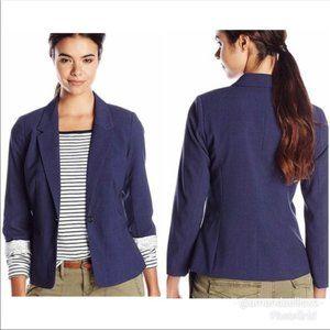 Kensie Rebekah Stretch Crepe Navy Lined Blazer L